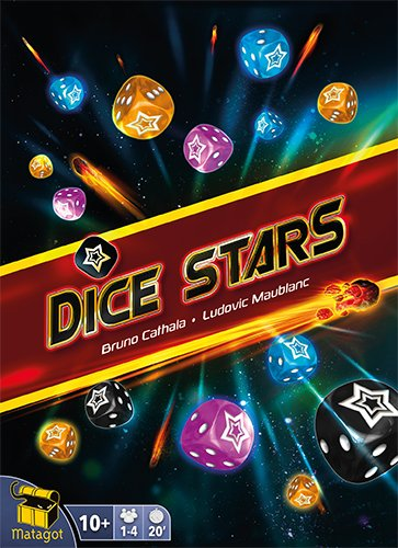 Matagot SAS MATSDST1 - Dice Stars, Familien Strategiespiel (Würfel Beutel Orange)