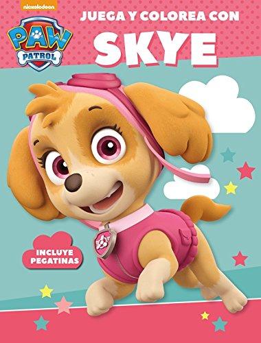Juega y colorea con Skye (Paw Patrol - Patrulla Canina. Actividades): (Incluye pegatinas)