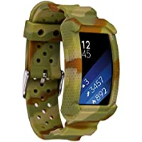 Greatfine Samsung Gear Fit2 Correa, muñequera Deportiva Watch Band de reloj Pulsera de Reemplazo Correa para Samsung Gear Fit 2 SM-R360 Smart Watch (Color Camo)