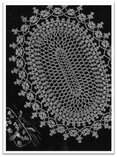 #2782 OVAL TATTED DOILY VINTAGE TATTING PATTERN (English Edition) -