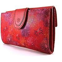 Cartera para mujer, hecho a mano en España, marca casanova, hecha en piel de vacuno, Ref. 22518 Rojo