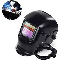 leegoal Casque de Soudure à énergie Solaire avec Capuche Professionnelle à assombrissement Automatique avec Large lentille réglable pour Masque de Soudure Arc Tig Mig Plasma