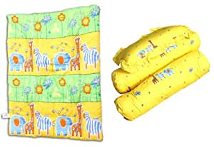 Owen Safari Garden Comforter, Pack of 4 (Yellow)