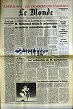 MONDE (LE) [No 12814] du 10/04/1986 - M. MITTERRAND REFUSE LA PRIVATISATION DE SOCIETES NATIONALISEES AVANT 1981 LES AMBIGUITES DE M. GORBATCHEV VOITURE PIEGEE AU LIBAN OFFENSIVE CONTRE LES RESISTANTS EN AFGHANISTAN LIONEL CARDON DEVANT LES ASSISES