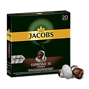 jacobs kapseln espresso intenso intensit t 10 nespresso kompatible kaffeekapseln 10x20. Black Bedroom Furniture Sets. Home Design Ideas