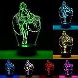 Marilyn Monroe 3D Lampes Illusions Optiques 7 couleurs Changement Tactile Interrupteur Lumière De Nuit Art Déco