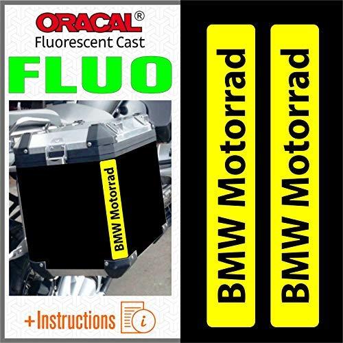 2pcs Autocollant R/éfl/échissants Motorrad R 1200 1150 F 800 650 F700 GS A R1200GS R1200 Touratech Motorcycle Aluminium Panniers Top Case White//Silver