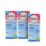 #3: Veet Full Body Waxing Kit for Sensitive Skin - 20 Strips (Buy 2 Get 1 Free)
