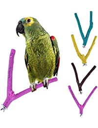 1 pedazo de madera pájaro loro arena rama Percha Juguetes para grinding garras (color al azar)