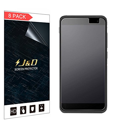 J und D Kompatibel für 8er Packung Smart Platinum 7 Bildschirmschutzfolie, [Antireflektierend] [Nicht Ganze Deckung] Hochwertige Matte Folie Schutzschild Bildschirmschutzfolie für Vodafone Smart Platinum 7
