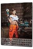 Dauer Wand Kalender Pin Up Erotik Werkstatt Arbeit Metall Magnet