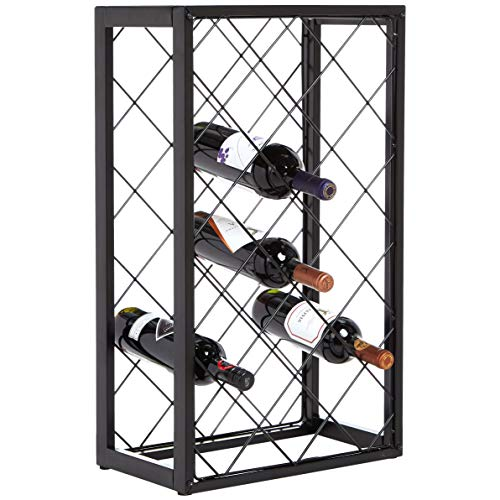 AmazonBasics - Botellero con tablero para 23 botellas de vino