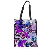 Lehrer Tasche für Arbeit Schmetterling Umhängetasche Designer Leinentasche