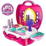 Babytintin™ Fashion Suitcase Make Up Toy Set Along Beauty Suitcase Makeup Vanity Toy Set For Girls
