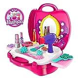 #3: Babytintin™ Fashion Suitcase Make Up Toy Set Along Beauty Suitcase Makeup Vanity Toy Set For Girls