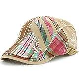 Herren Baseball Caps Fashion Einstellbar Stickerei Baumwolle Draussen 4 Sonnen Caps Sport Farben Unikat Style Basecap (Color : Beige, Size : One Size)