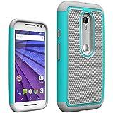 AIBULO Motorola moto g tercera generación Case - Funda para Motorola moto g tercera generación 5.0 pulgadas Smartphone (azul claro)