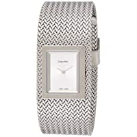 Calvin Klein Womens Quartz Watch, Analog Display and Stainless Steel Strap K5L13136