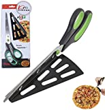 11 inch Stainless Steel Pizza Scissors by Xin Hua, Replace Your Pizza Cutter, Sharp Scissors Let You Easily Taste Serves Hot Pizza--Green