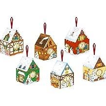 24 winterliche Adventshäuschen: Zum Falten und Befüllen
