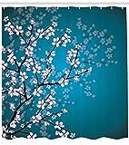Abakuhaus Japonais Rideau de Douche, Conception Sakura Bloom de la Saison...