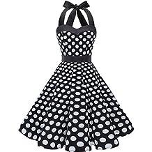 e370ff0af0eb ... pin up dress. Dresstells Donne 1950 Audrey Hepbun Vintage con  Allacciatura al Collo di Polka Dots Cocktail Vestito