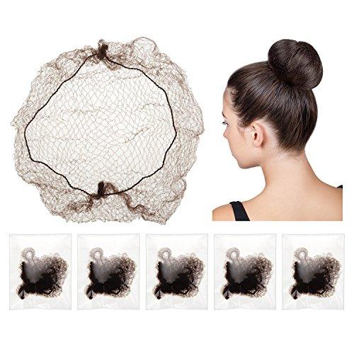 30 pezzi reti per capelli invisibili elastico bordo maglia per parrucca e fissazione dei capelli donne di buono fabbricazione, marrone