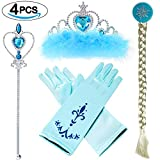VAMEI Prinzessin Dress up Party Zubehör mit Krone Wand Handschuhe Halskette Ohrringe Ring Tiara...