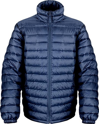 Résultat pour homme veste manteau d'hiver à col fermeture éclair avant Glace Oiseau rembourrée pour femme Bleu - Bleu marine