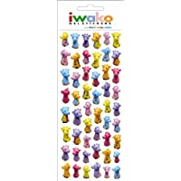 Iwako Zoo Animal Giraffe Gel Stickers. 51 Stickers Per Pack