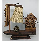 Ethnic Karigari Artefacts Beautiful Modern Art Boat Handicrafts Showpieces For Home Decor Beautiful Wooden Lamps Ship Style With Music | Home Decor Items And Accessories For Living Room