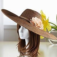 Hembra Verano Sombrero de Copa Sombrero de Playa Sombrero de ala Grande al  Aire Libre Protector 3162c5ca46b