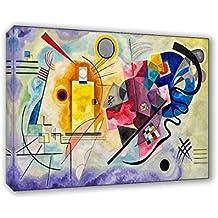 Cuadro sobre lienzo il Meglio de arte Tamaño 50x 70cm amarillo rojo azul–Kandinsky