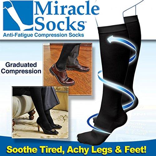 Calcetines relax ' Miracle Socks '. Compresión gradual, Anti-fatiga. Anunciados en TV. ¡Reduzca notablemente los dolores o hinchazón en sus piernas!.