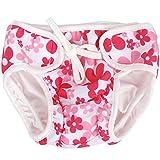 Hosaire Pañal bañador Bebés Ajustable Bañador Pañal de Tela Reutilizable Lavable Diaper Para Bebé Unisex size S (Flor rosa)