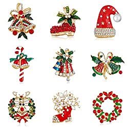 Navidad Joyas Campana Hojas...