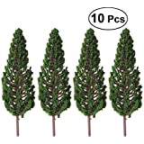 Vosarea 10pcs Green Scenery Landscape Model Trees Park Street Artificial Railroad Trees