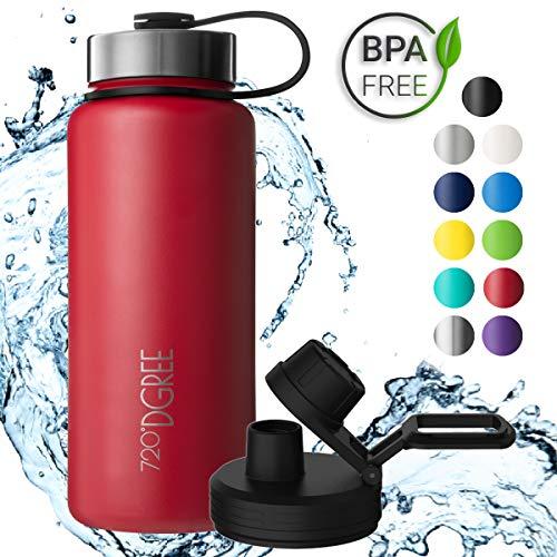 720°DGREE Edelstahl Trinkflasche noLimit 950 ml / 1l   Neuartige Thermosflasche +Gratis Sportdeckel   Auslaufsichere Isolierflasche   Perfekte Outdoor Sportflasche für Kinder
