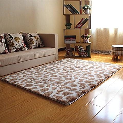 hangnuo antidérapage Shaggy Zone Tapis Tapis Tapis de sol souple pour salon chambre porte d'entrée 80x 120cm (2.6x 3.9ft)