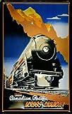Blechschild Nostalgieschild Canadian Pacific Across Canada Eisenbahn Schild Kanada