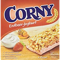 CORNY Erdbeer-Joghurt, Müsliriegel, 150g Schachtel mit 6 Riegeln