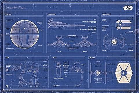 Star Wars : Le bleu de la flotte Impériale Poster grand format 91.5 x 61cm