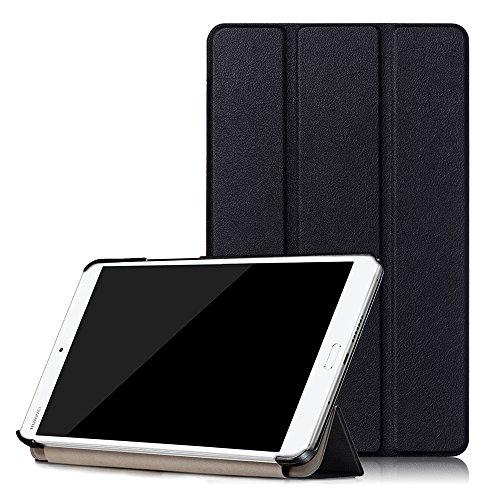 Preisvergleich Produktbild Skytar Hülle für Huawei MediaPad M3 8.4 Zoll - PU Leder Schutzhülle Smart Cover Case für Huawei MediaPad M3 8.4 Zoll Tablet Tasche Etui mit Support-Funktion,*Schwarz