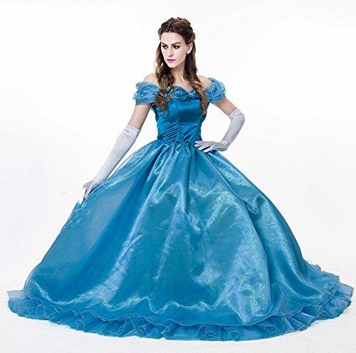 Deluxe Kostüm CINDERELLA LANG - Modell 4 , Größe:L (Frozen Kleid Erwachsene Für)