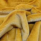 Panini Tessuti, Tessuto Pelliccia Ecologia Coniglio-Peluche Venduto al Mezzo Metro, 1 Qtà = 50 Cm; 2 Qtà = 100 Cm. Ideale per Cappotto Poncho Mantella Coprispalle