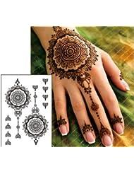 NOIR tatouages temporaires au henné pour le main et corps black88