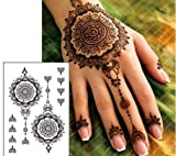 TATTOO SCHWARZ FAKE TATTOO EINMAL TATTOO HENNA DESIGN Black88 Schmuck Tattoo Orient Tattoo