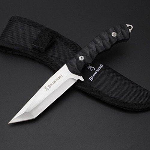 Outdoor Knife Shop Browning Couteau Droit à Grande dureté Multifonction Couteau Survivants Couteau à défense