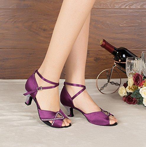 Miyoopark ,  Damen Tanzschuhe Purple-6cm heel