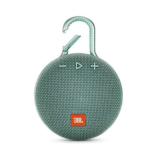 JBL Clip 3 Bluetooth Lautsprecher in Türkis – Wasserdichte, tragbare Musikbox mit praktischem Karabiner – Bis zu 10 Stunden kabelloses Musik Streaming
